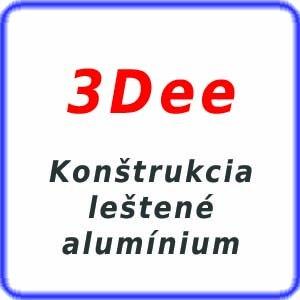 3D leštené alumínium